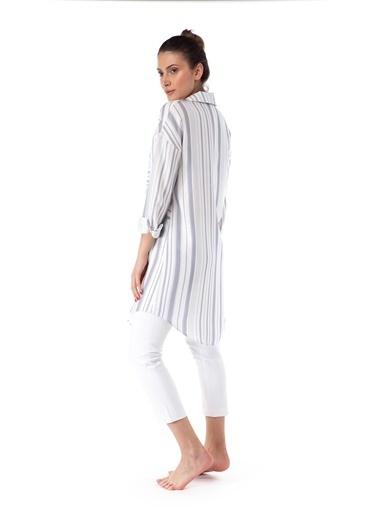 Pamuk & Pamuk Alaçatı Desen Kadın Tunik Renkli